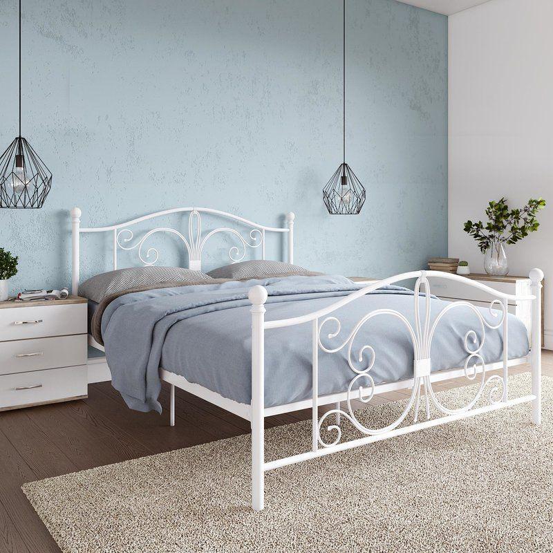 Bombay Platform Bed With Images Queen Metal Bed Metal Beds