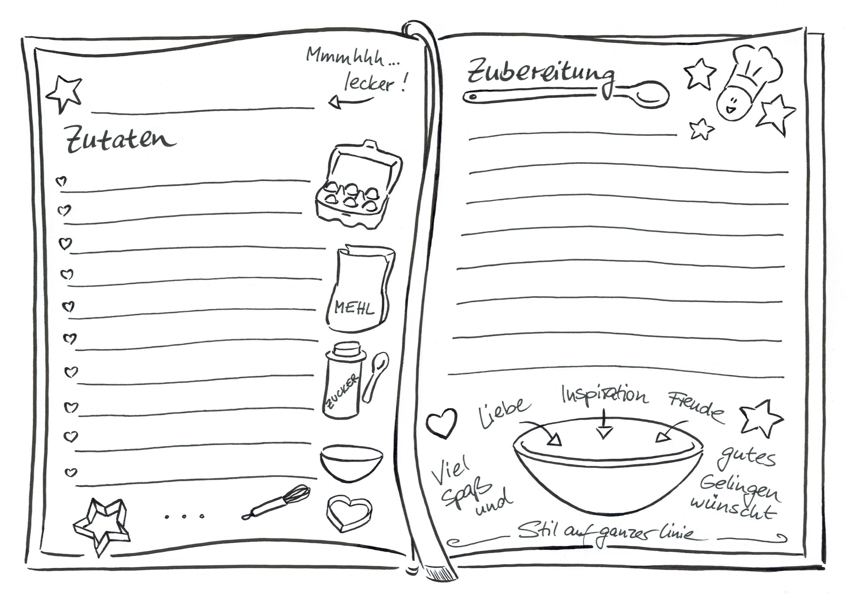 sketchnotetemplate für dein keksrezept sketchnotes