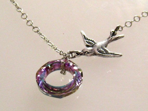 9e47a938f812 Purple Bird Necklace