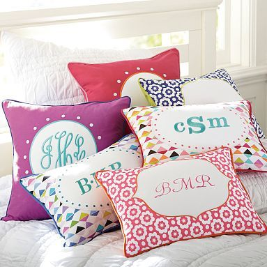 Abby Monogram Pillow Cover #pbteen