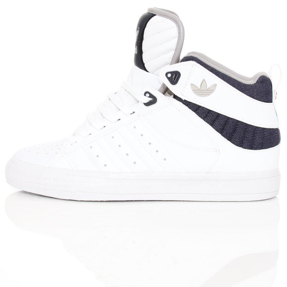 Adidas Freemont Mid White/Navy | Wellgosh @WELLGOSH