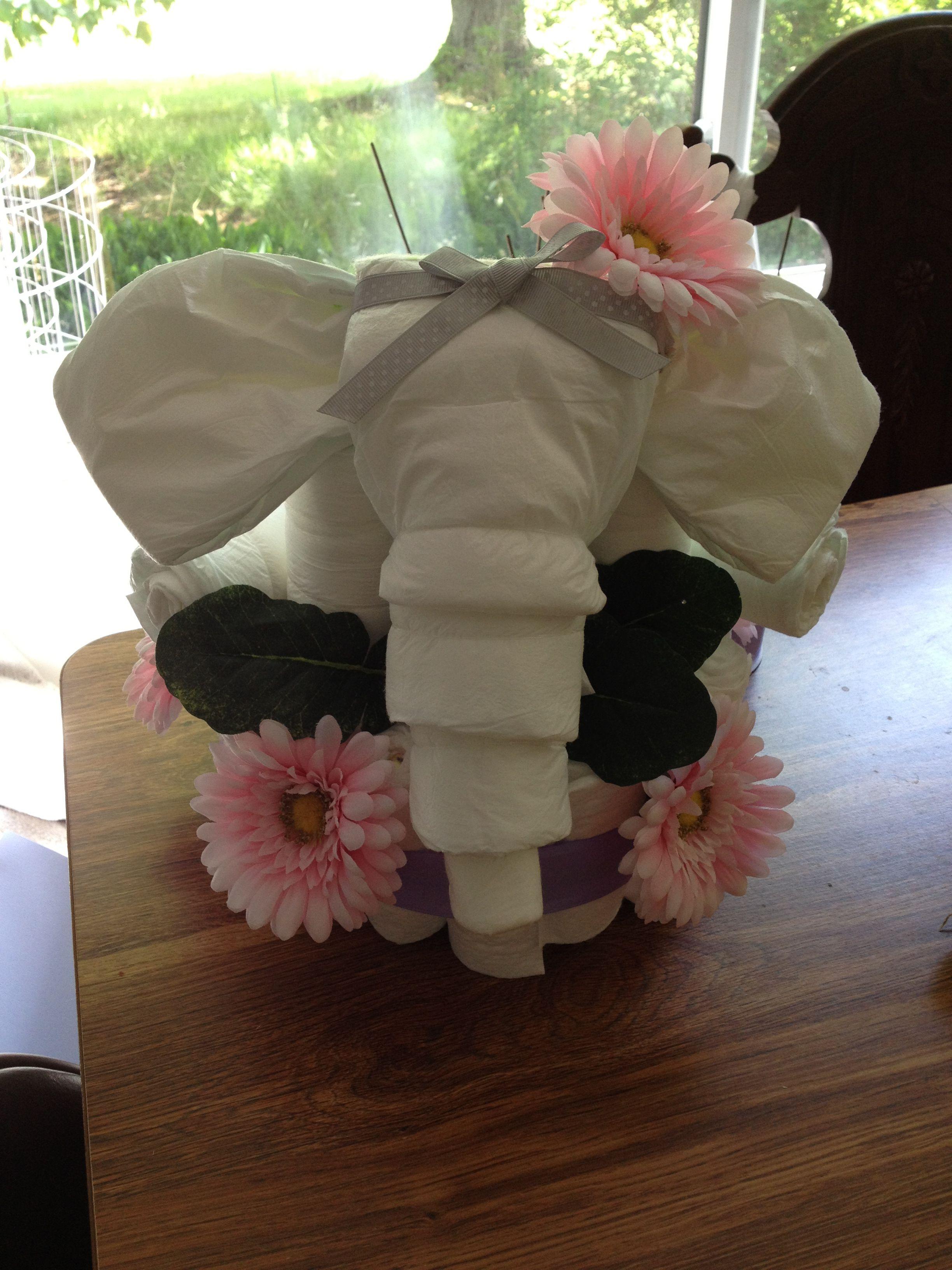 Elephant Diaper Cake Elephant Diaper Cakes Baby Diaper Cake