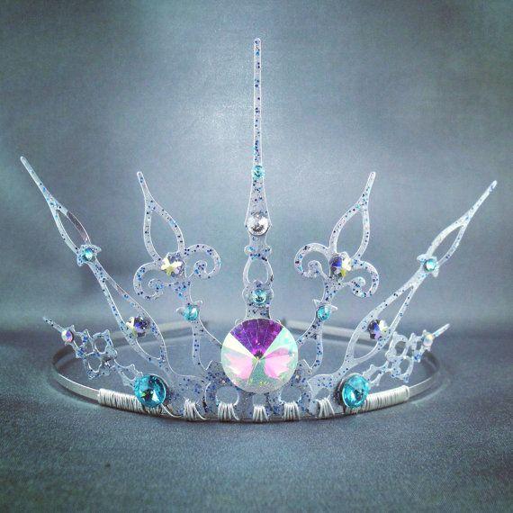 Glacée - Silver Filigree Gothic Tiara - Ice Queen Crown Snow Queen ...