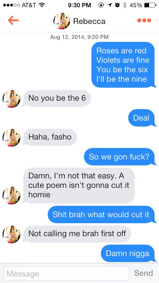 Best opening lines for hooking up with girls on tinder