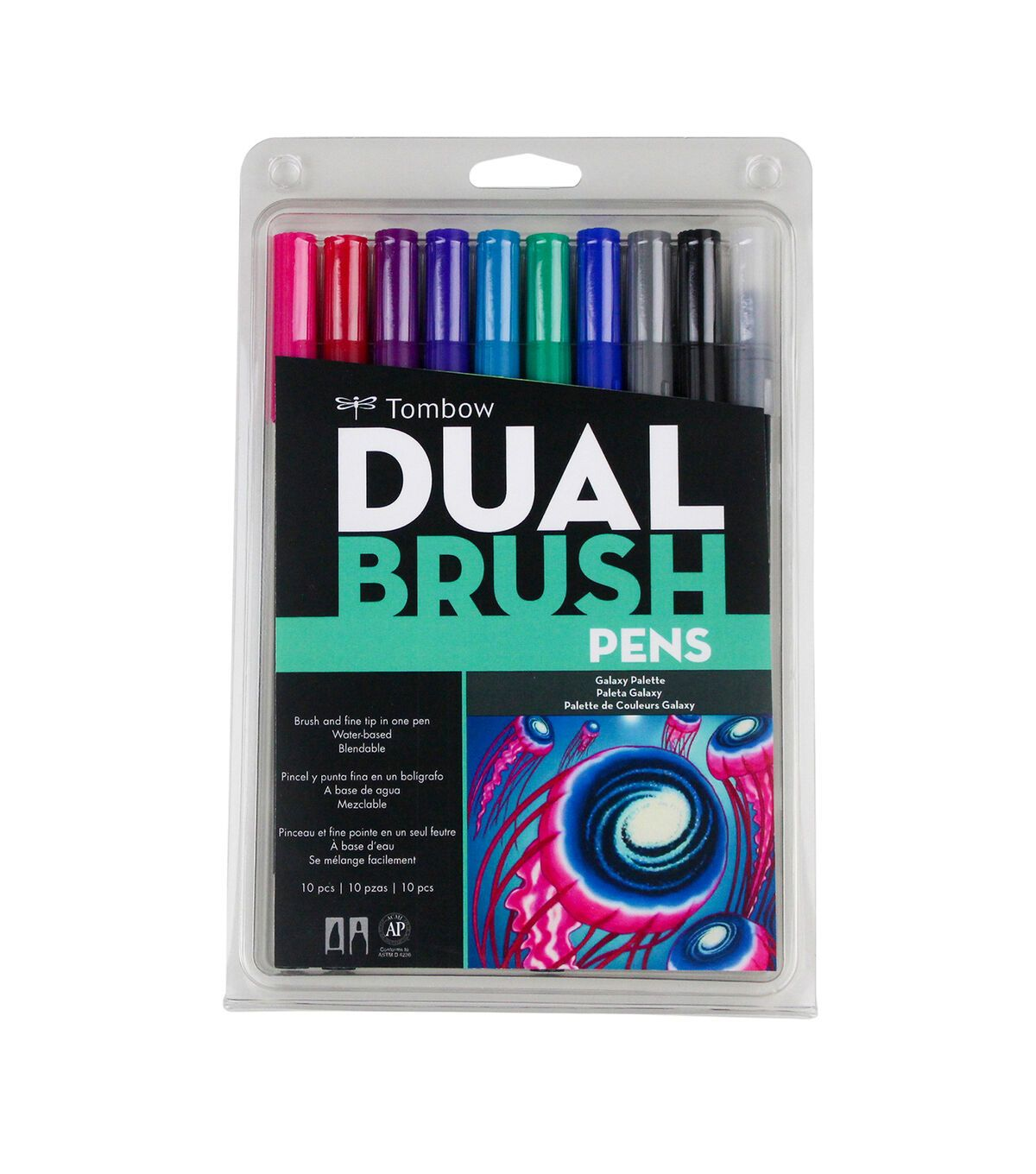 Tombow Dual Brush Markers 10 Pkg Galaxy