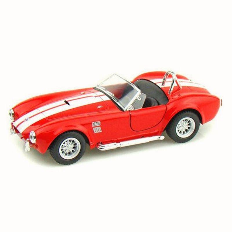 Para Bebé, niños y niñas Coche Shelby Cobra 1965 427 S/C Rojo Juegos y juguetes educativos