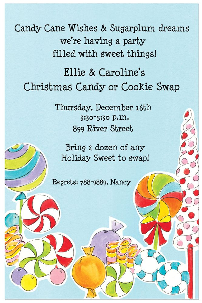 Candyland Party Invitations | Invitation wording, Candyland and ...