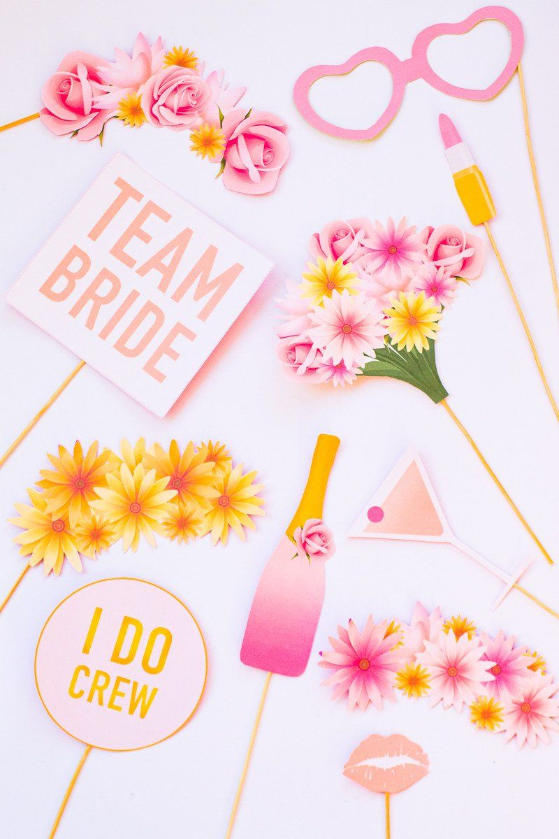 Bridal shower / bachelorette party photo booth props ...