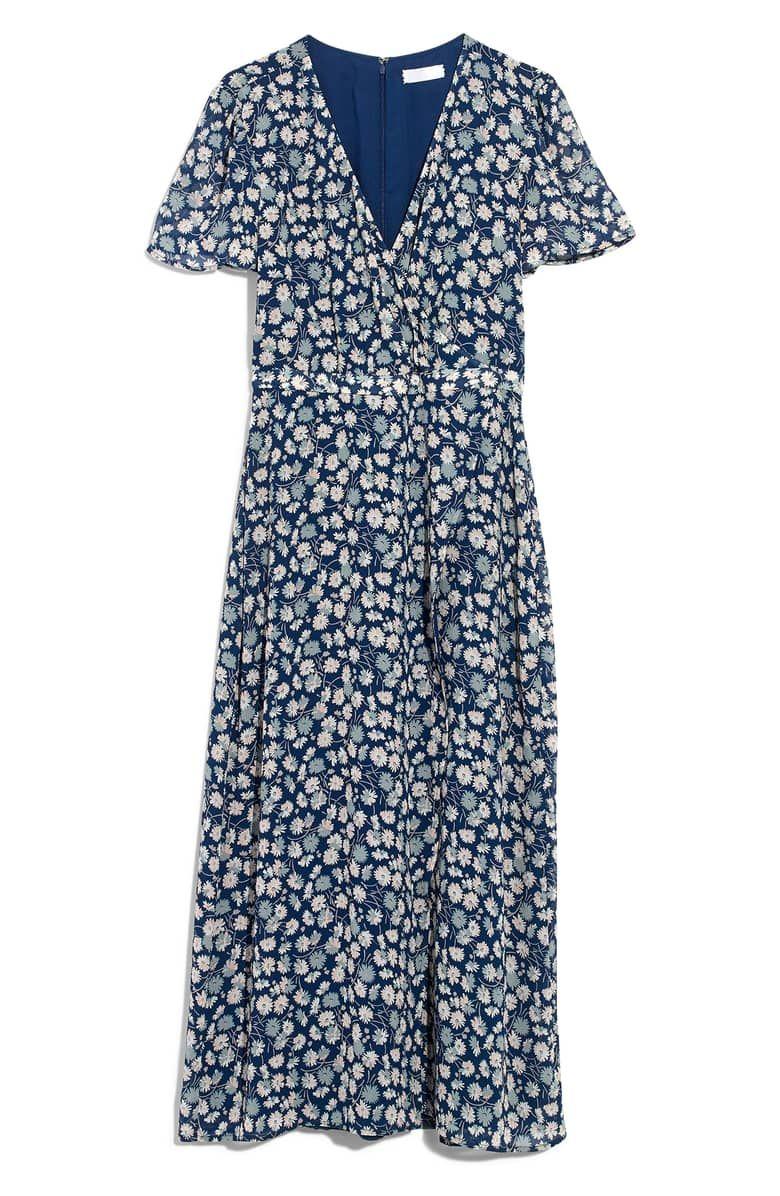 e5826bafc50 Madewell Floral Wrap Front Midi Dress