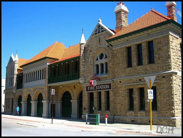 Former 1901 Perth, Australia firehouse now housing the Fire Safety Education Centre and Museum | Shared by LION