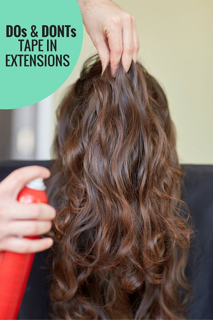 Dos donts tape in extensions infographic hair