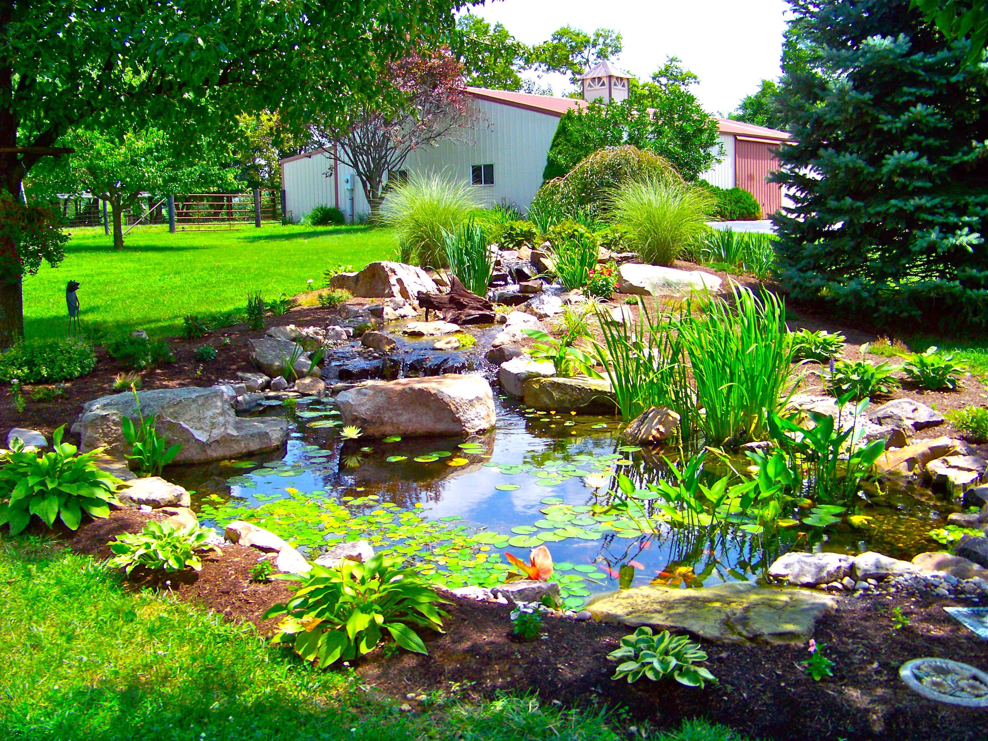 Custom Water Gardens In Lexington Ky American Deck Sunroom Water Features In The Garden Beautiful Backyards Backyard