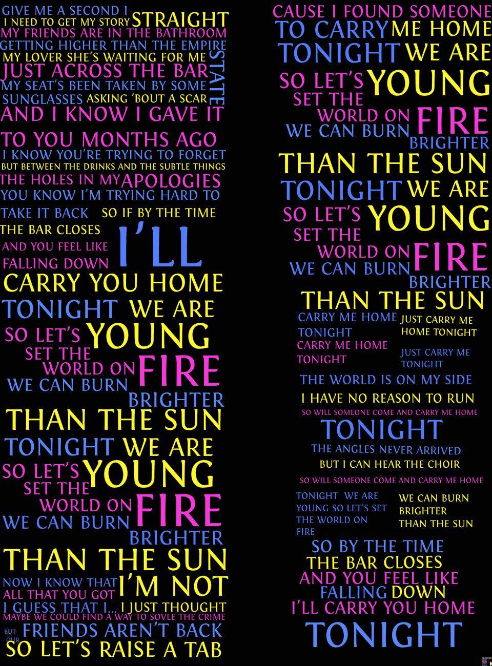 we are young lyrics - 736×996
