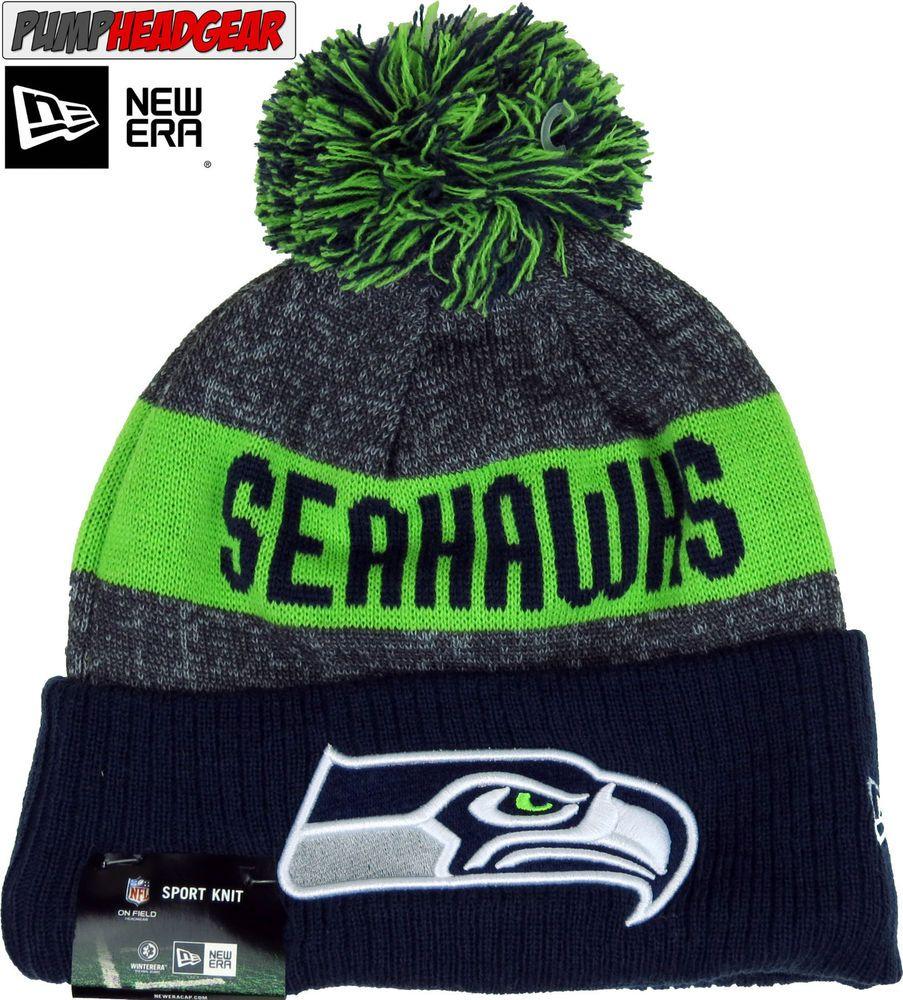 fbdc08e4b44 Seattle Seahawks New Era NFL Sideline Sport Knit Bobble Hat