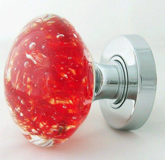 Cool Red Glass Door Knobs More Design http://maycut.com/wood-door ...
