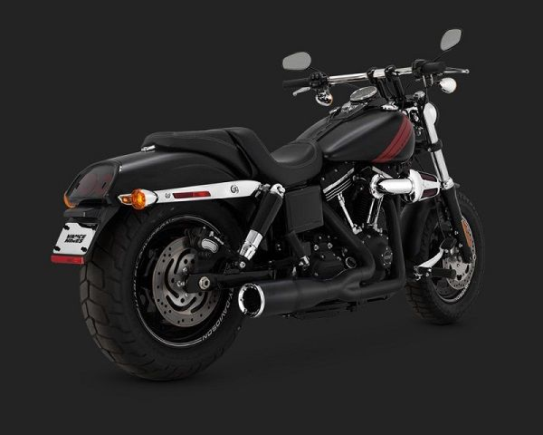 Vance & Hines Hi-Output 2-into-1 Short Exhaust (Black)- Harley Davidson Dyna (06-Up)