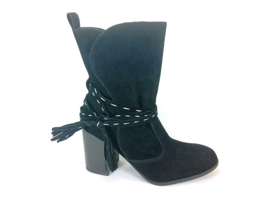 Bota Cano Médio RR Shoes Inverness Preto | Bota cano medio