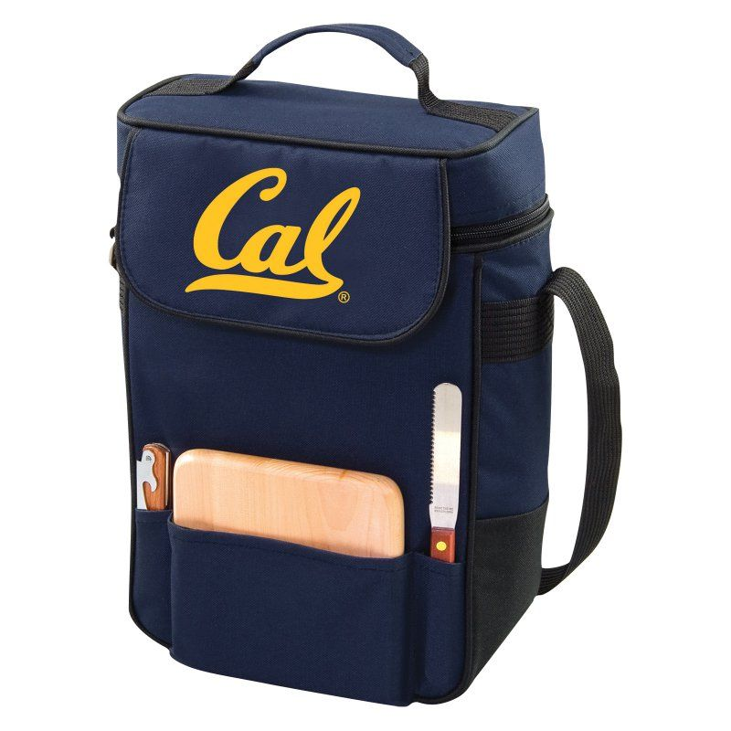 Picnic Time Collegiate Duet Wine and Cheese Tote Navy - 623-04-138-074-0