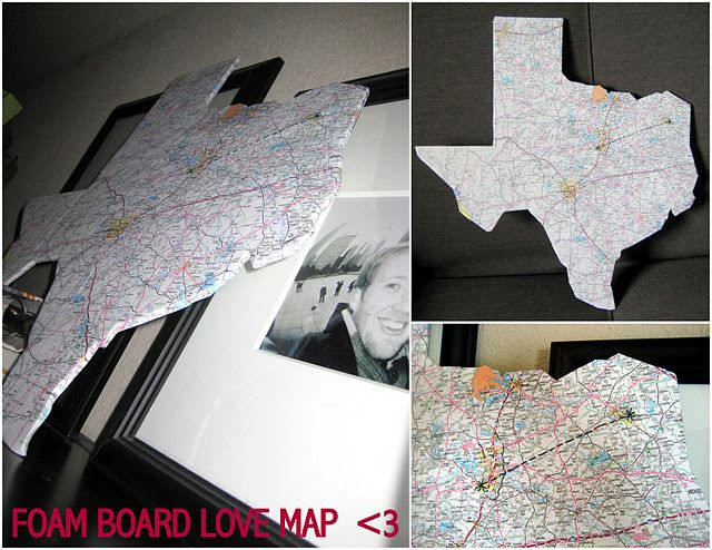 Texas foam-core map board