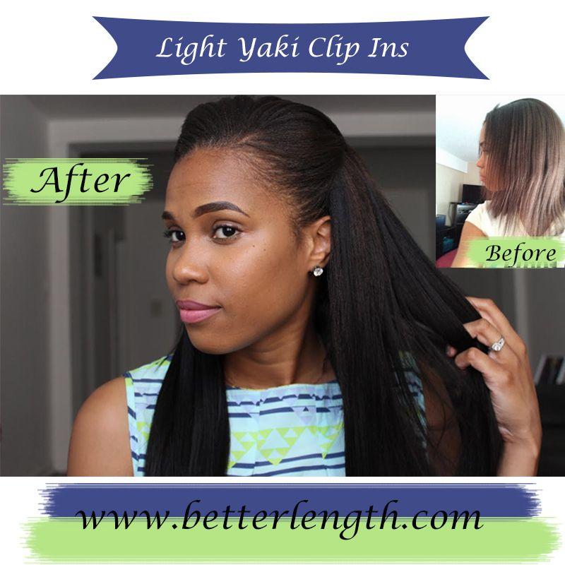 Betterlength light yaki clip ins blend perfectly with relaxed hair betterlength light yaki clip ins blend perfectly with relaxed hair pmusecretfo Images