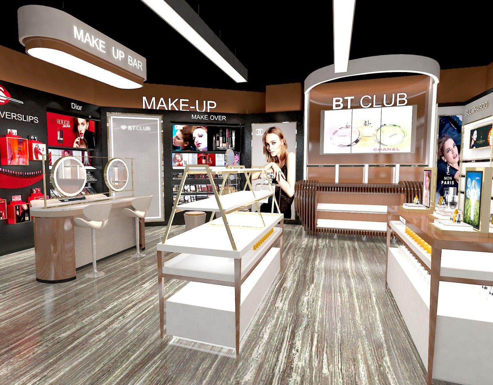 Bt Club Display Cabinet For Cosmetic Store In 2020 Cosmetic Store Display Cabinet Store Plan