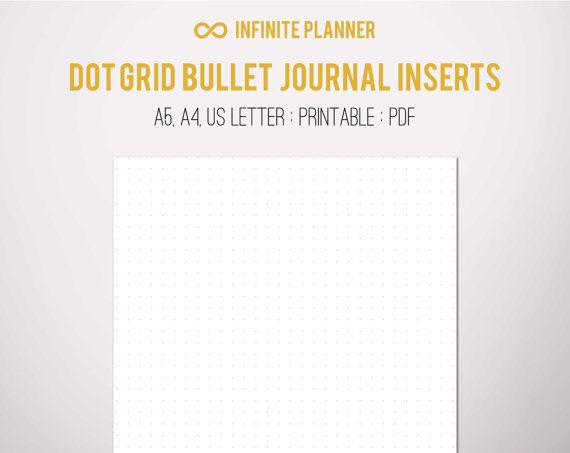 A5 Dot Grid Page - Bullet Journal Printable Pinterest Bullet - printable dot grid paper