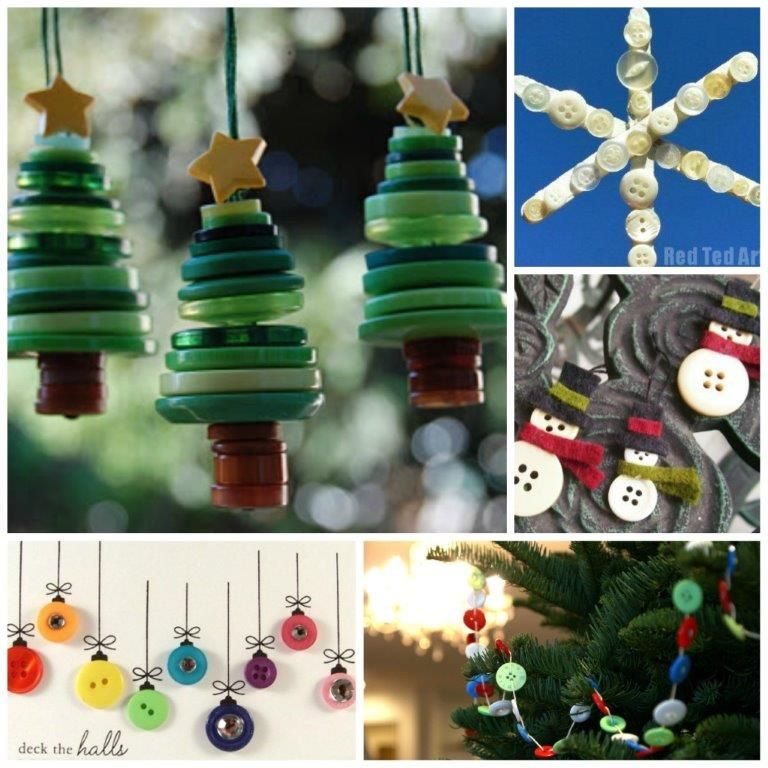 Button Crafts Ideas Christmas Button Crafts Christmas