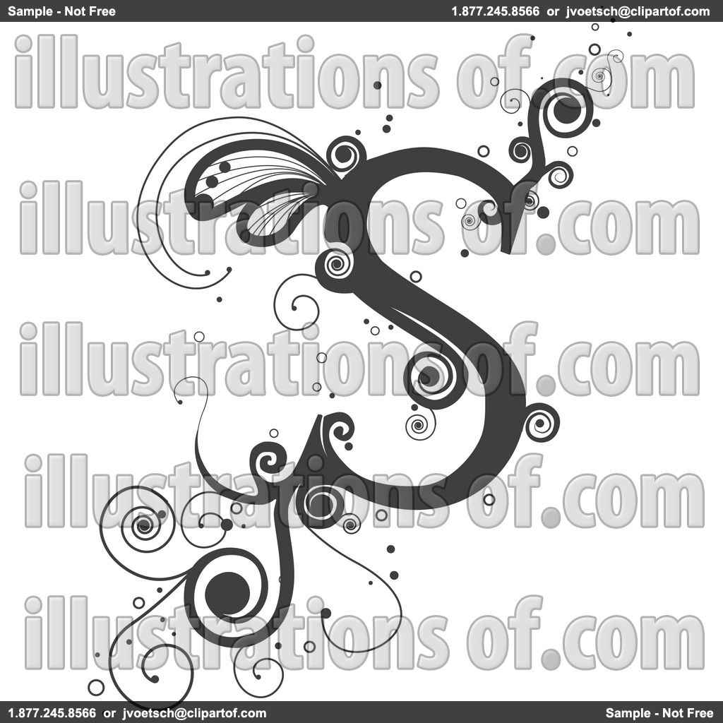letter drawing designs |     Free (RF) Vine Letter Clipart