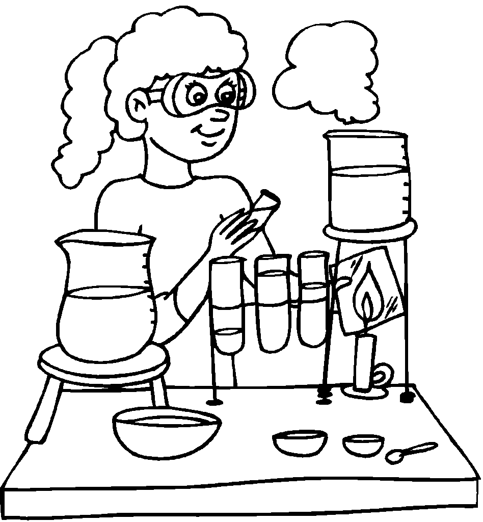 Download or print this amazing coloring page: Science Lab