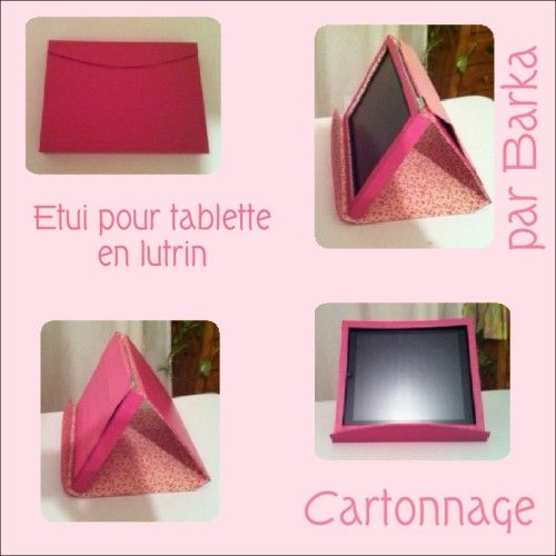 etui pour tablette en lutrin par cartonnage diy pinterest lutrin cartonnage et. Black Bedroom Furniture Sets. Home Design Ideas