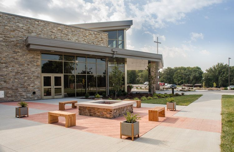 Platte Woods United Methodist Church Church Building Design Church Outdoor Modern Church