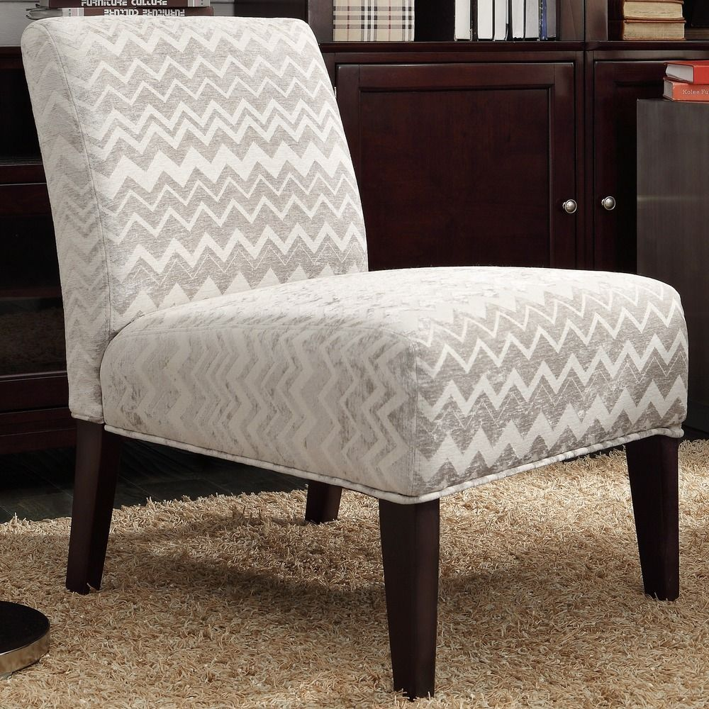 INSPIRE Q Peterson Grey Chevron Slipper Chair by iNSPIRE Q