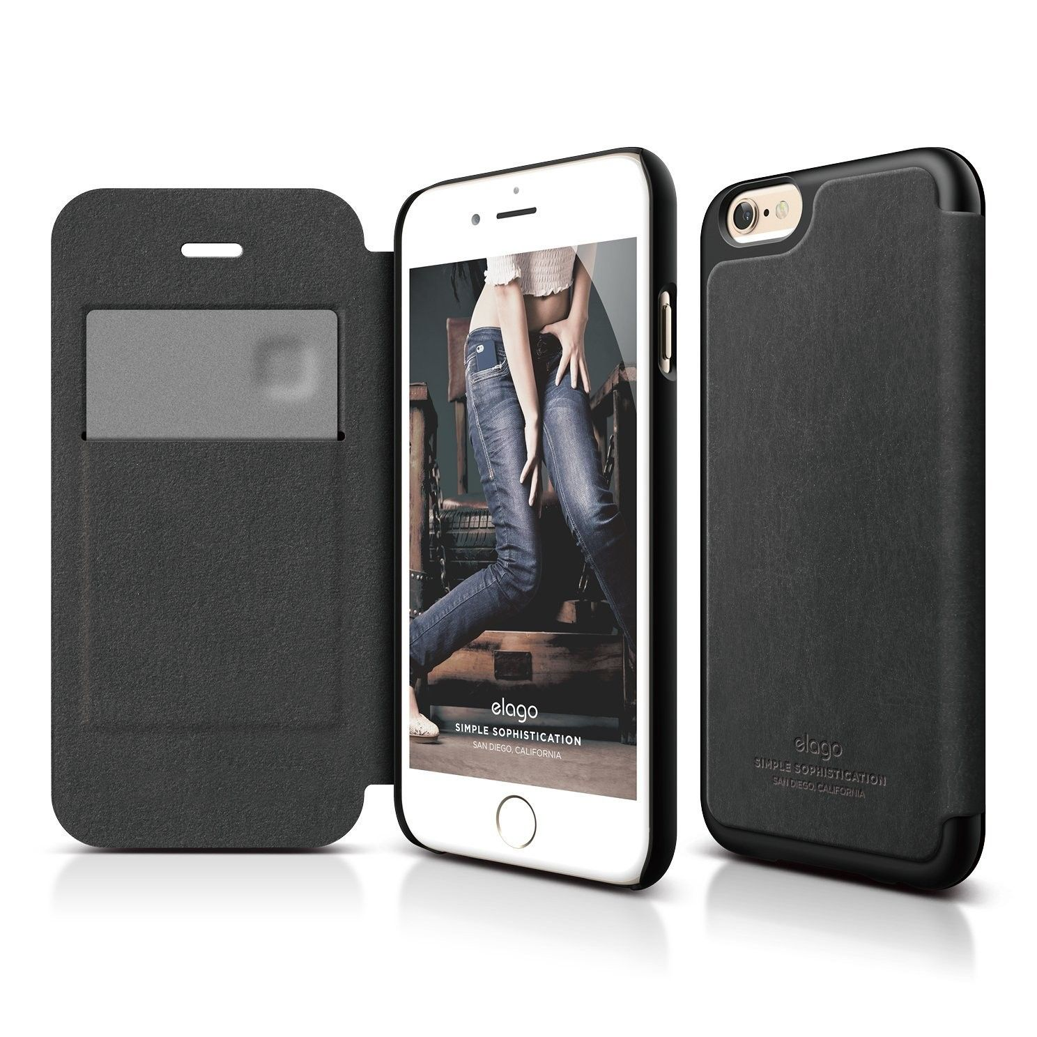 S6 Leather Flip Case for the iPhone 6/6S (4.7inch) + HD