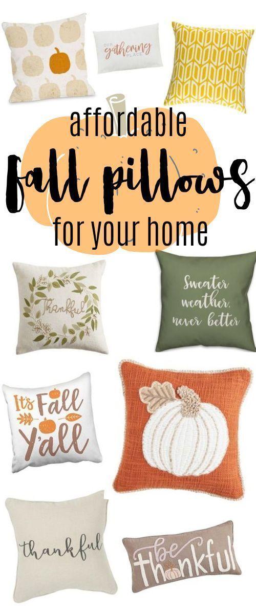 20+ cute Fall throw pillows for your home | cheap pillows fall pillows favorites...#cheap #cute #fall #favorites #home #pillows #throw