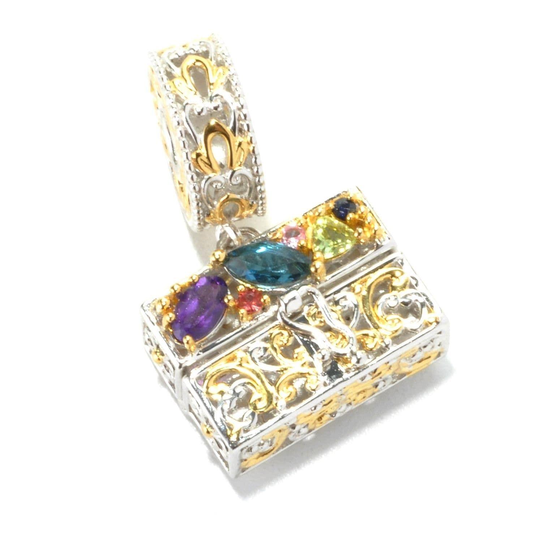 278a2379dff4a Michael Valitutti Palladium Silver Multi Gemstone Handbag Drop Charm ...