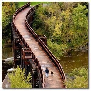 Banbury Bridge - Eau Claire I love jogging across this bridge or just leaning against the rail, breathing in the crisp air.