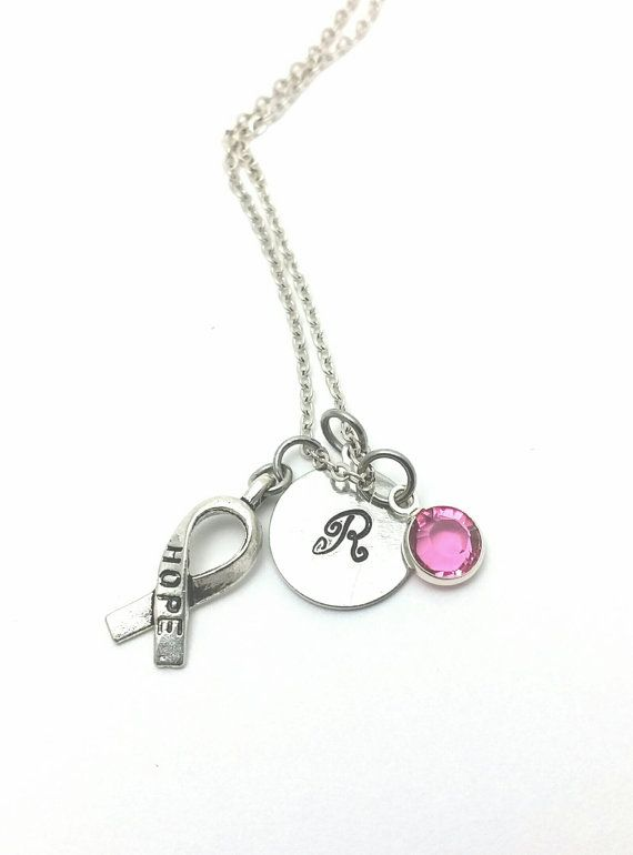 Breast cancer awareness necklaceBreast cancer by SumabatCreations