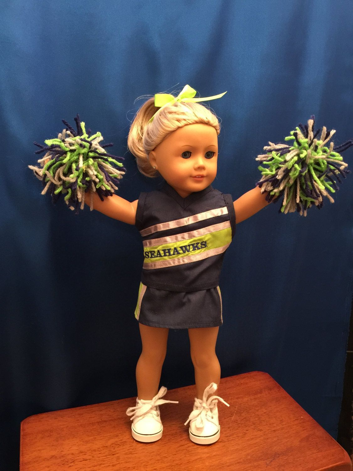 Homemade Doll Clothes For 18 Inch Dolls Like American Girl Dolls: Seahawks Cheerleading Outfit Made From Jelly Bean Soup Pattern by CutzieDollFashions on Etsy #18inchcheerleaderclothes Homemade Doll Clothes For 18 Inch Dolls Like American Girl Dolls: Seahawks Cheerleading Outfit Made From Jelly Bean Soup Pattern by CutzieDollFashions on Etsy #18inchcheerleaderclothes