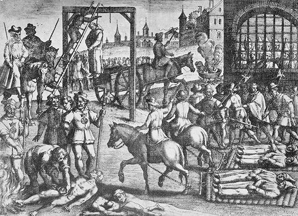 Resultado de imagen de Carthusian monks are hung, drawn and quartered