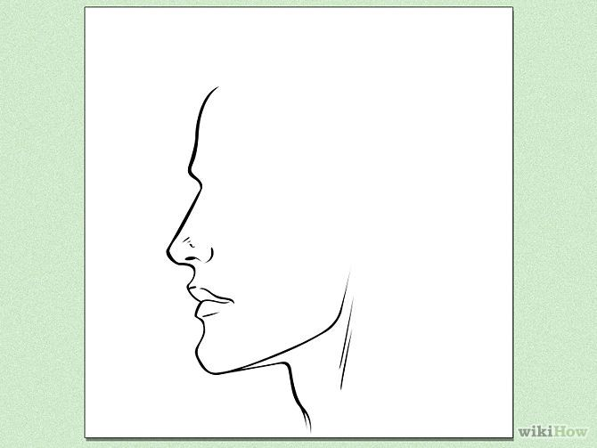 Line Drawing Face Profile : How to draw face profiles steps with pictures
