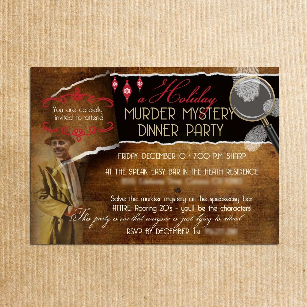 Adult personalized murder mystery dinner invitation photo adult personalized murder mystery dinner invitation photo stationery by razzledazzledesign on etsy 177 stopboris Images