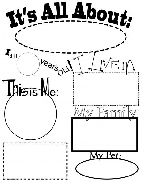 all about me worksheet printables pinterest worksheets school and activities. Black Bedroom Furniture Sets. Home Design Ideas