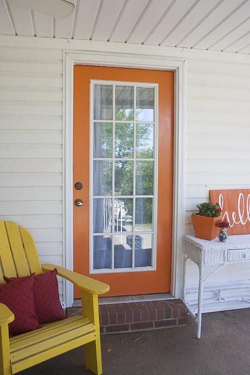 Create This Project With Americana Decor Curb Appeal Give Your Door A Pop Of Color To Brighten Up The Outdoors With Curb Apppeal