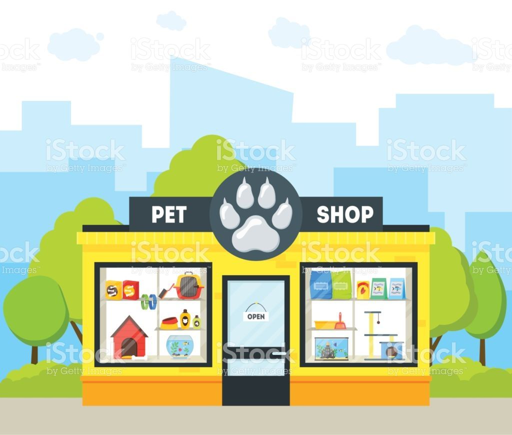 Pin By Shirrel Sanford On Store Fronts Pet Shop Cartoon Animals