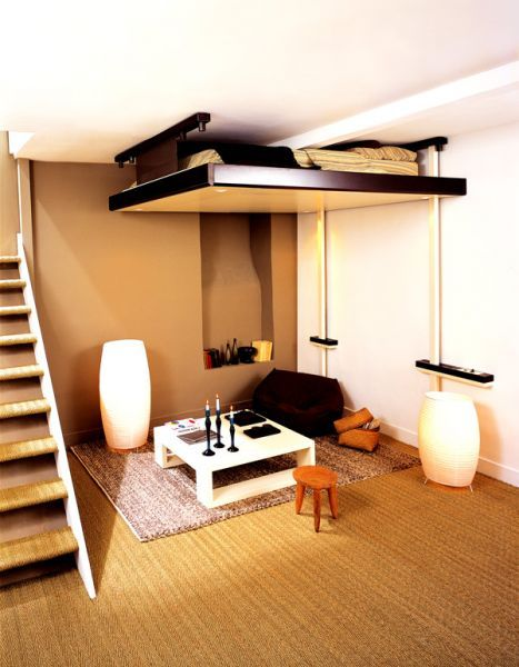 espace loggia lit mezzanine plateau mobile electrique jour. Black Bedroom Furniture Sets. Home Design Ideas