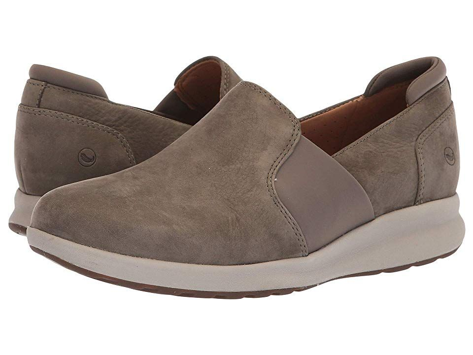 bba919d398c Clarks Un Adorn Step (Taupe Nubuck) Women s Shoes. The Clarks Un Adorn Step  slip-on trainer offers a contemporary silhouette with optimal comfort.