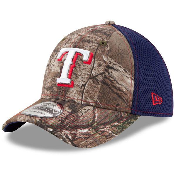 bf931bba905 Men s Texas Rangers New Era Realtree Camo Neo 39THIRTY Flex Hat ...