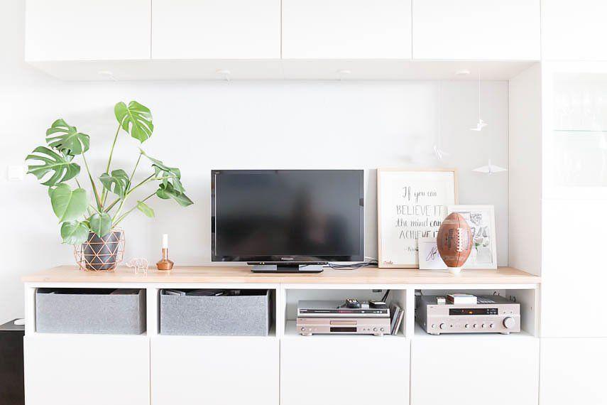 Pimp my Besta - Besta mit Holzplatte verschönern Cd storage, Ikea - Wohnzimmer Ikea Besta