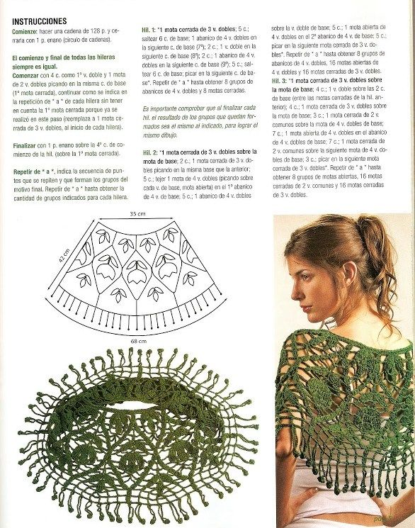 Crochet poncho, free pattern | Moda donna | Pinterest | Capa tejida ...