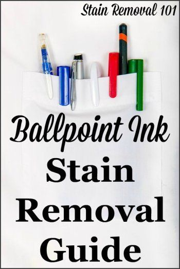 Ballpoint Ink Stain Removal Guide Removing Pen Stains Ink Stain